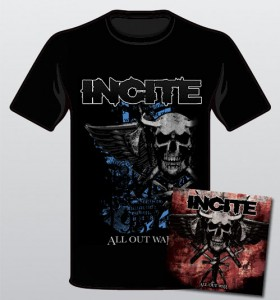 Incite All Out War Cd T-Shirt Combo